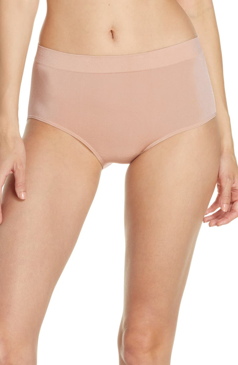 WACOAL B Smooth Briefs, Main, color, ROSE DUST
