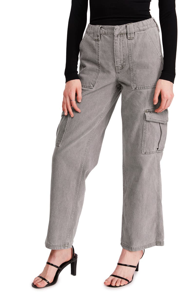 BDG URBAN OUTFITTERS Skate Wide Leg Cargo Jeans, Main, color, 020
