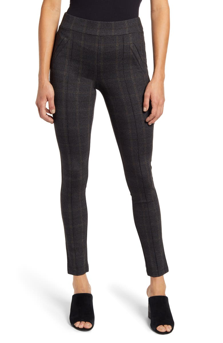 WIT & WISDOM Plaid Ankle Leggings, Main, color, 020