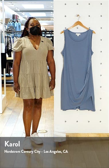 Ruched Sleeveless Jersey Dress, sales video thumbnail