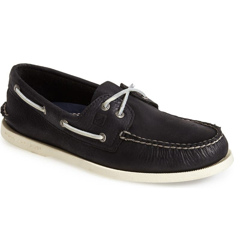 SPERRY 'Authentic Original' Burnished Boat Shoe, Main, color, 001