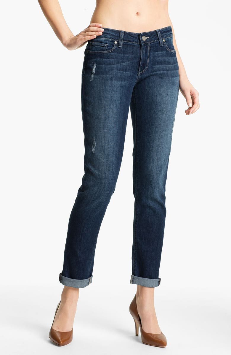 PAIGE Denim 'Jimmy Jimmy' Distressed Skinny Jeans, Main, color, 400