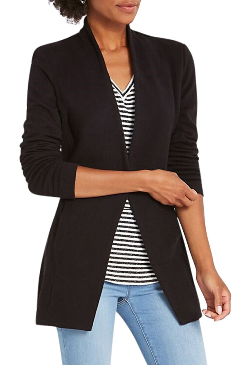 NIC+ZOE Grace Jogger Jacket, Main, color, BLACK ONYX