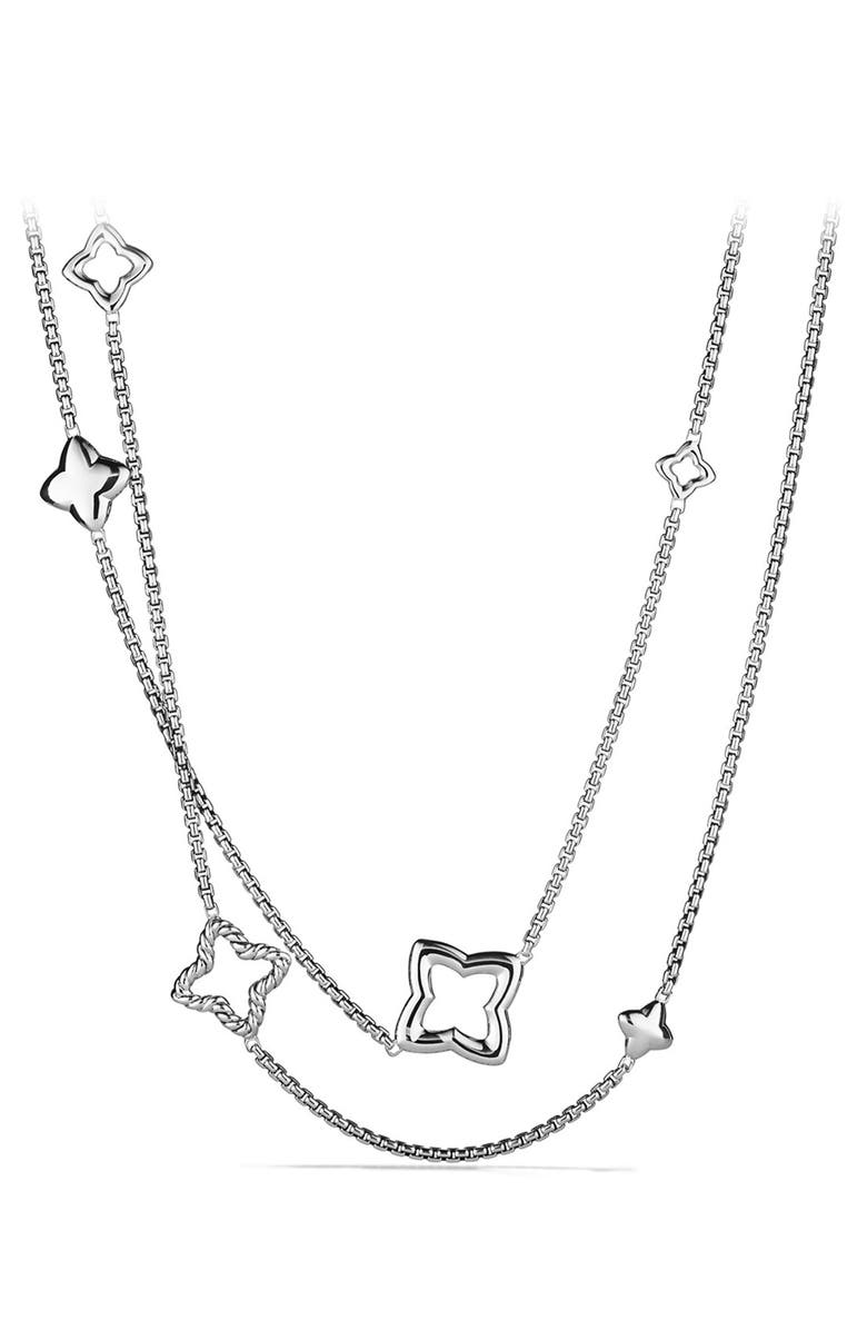 DAVID YURMAN Quatrefoil Chain Necklace, Main, color, SILVER