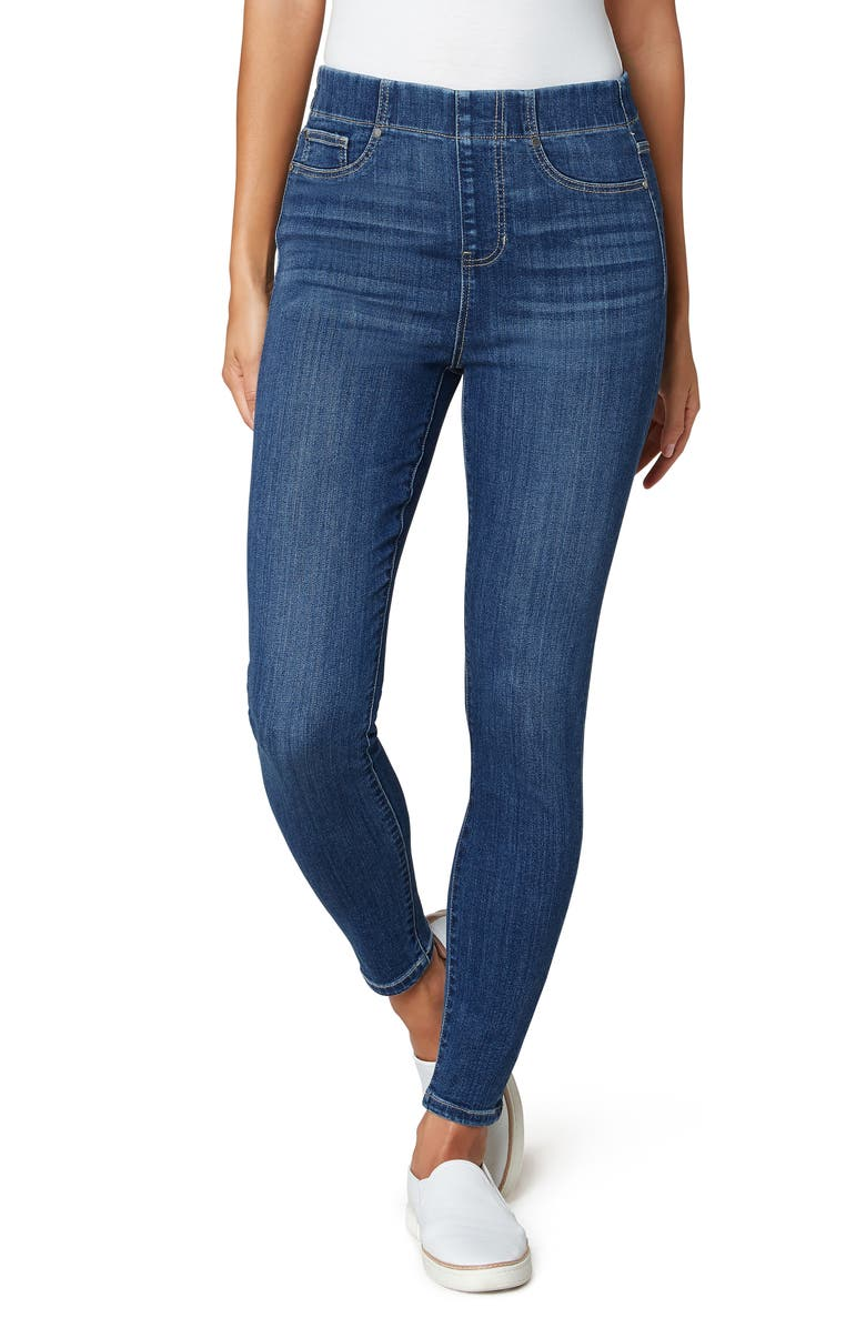 LIVERPOOL Chloe High Waist Pull-On Ankle Skinny Jeans, Main, color, NEWTON