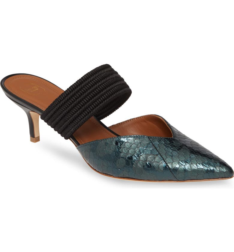 MALONE SOULIERS Maisie Genuine Snakeskin Banded Mule, Main, color, 003