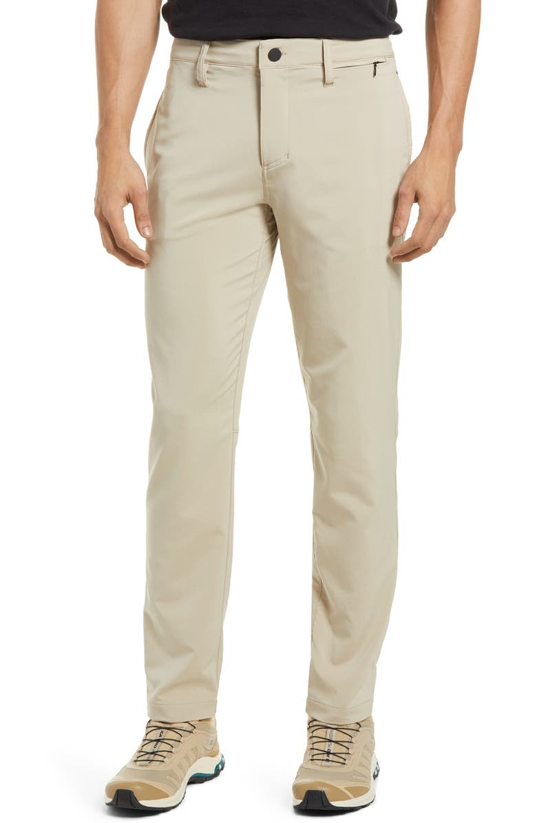 ZELLA Hybrid Tech Commuter Pants, Main, color, TAN NANTUCKET