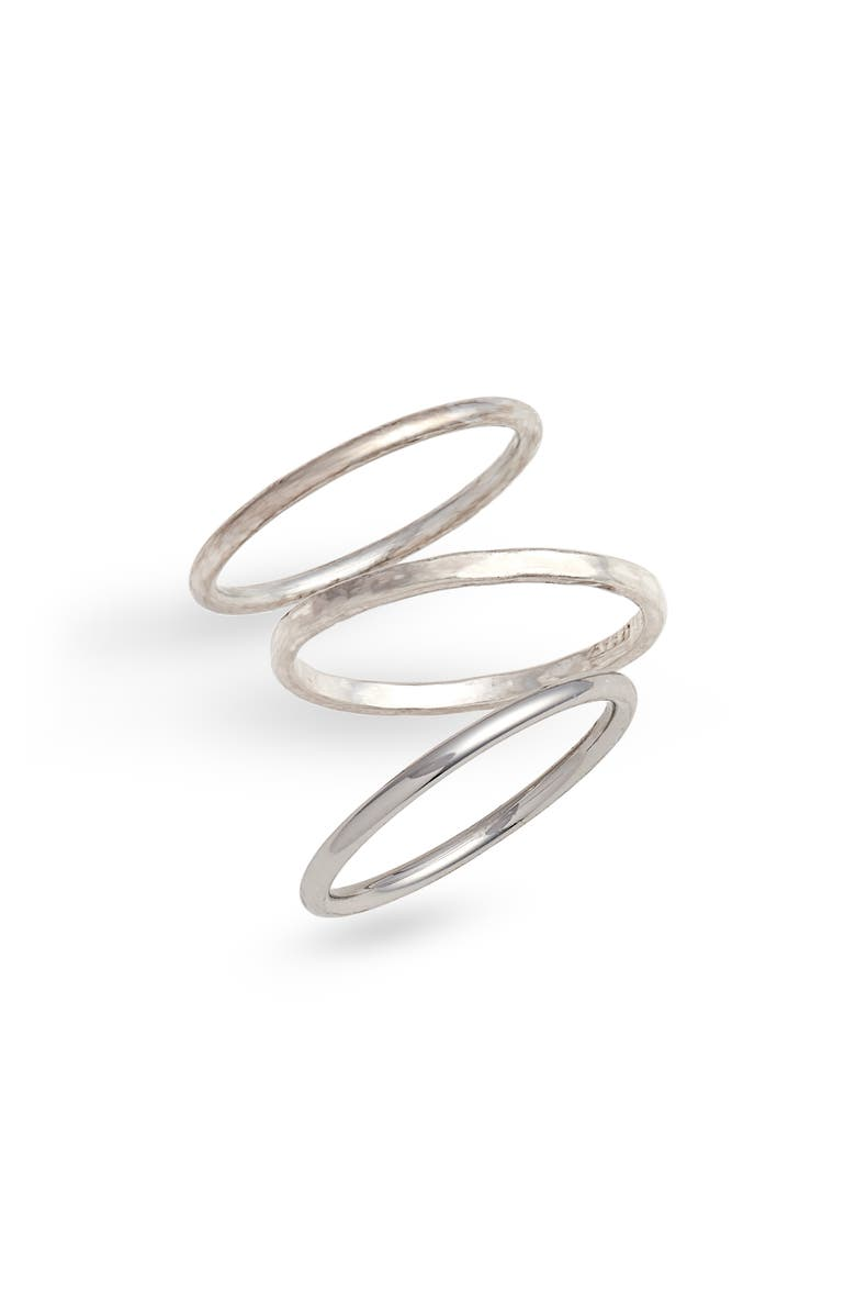 MADEWELL Delicate Stacking Ring Set, Main, color, MIXED METAL