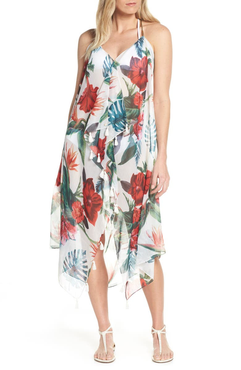 POOL TO PARTY Beach to Street Cover-Up Dress, Main, color, 100