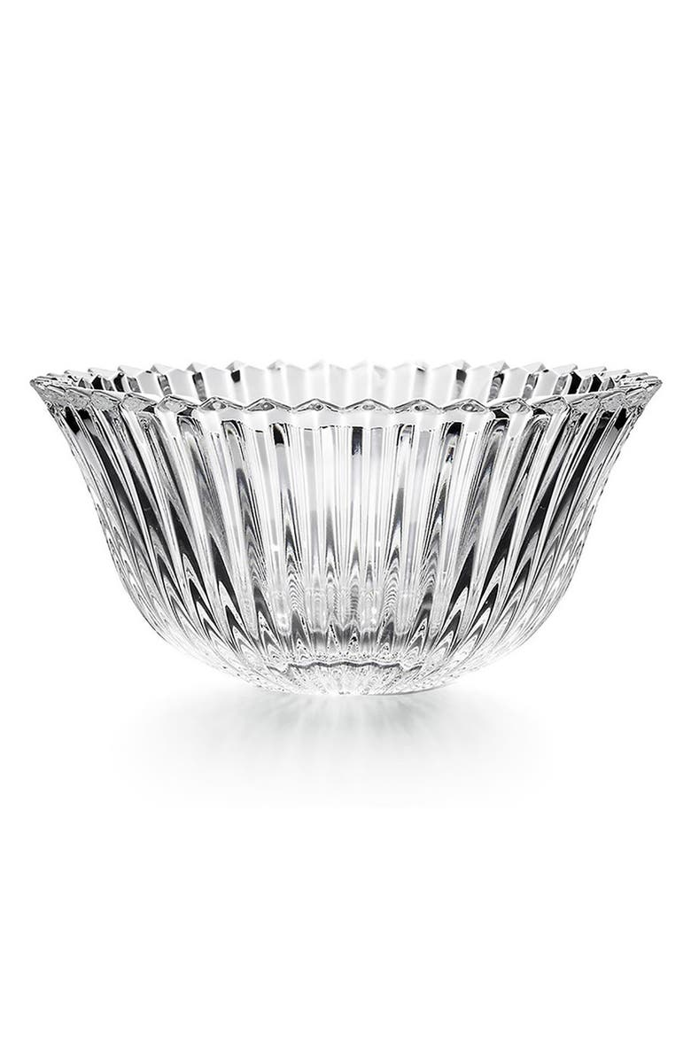 BACCARAT Small Mille Nuits Lead Crystal Bowl, Main, color, CLEAR