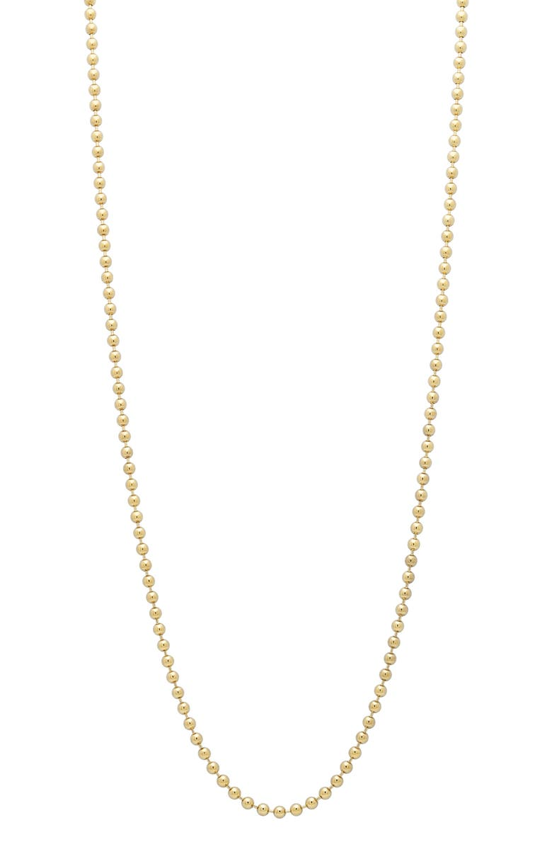 STEPHANIE WINDSOR Ball Chain Necklace, Main, color, YELLOW GOLD