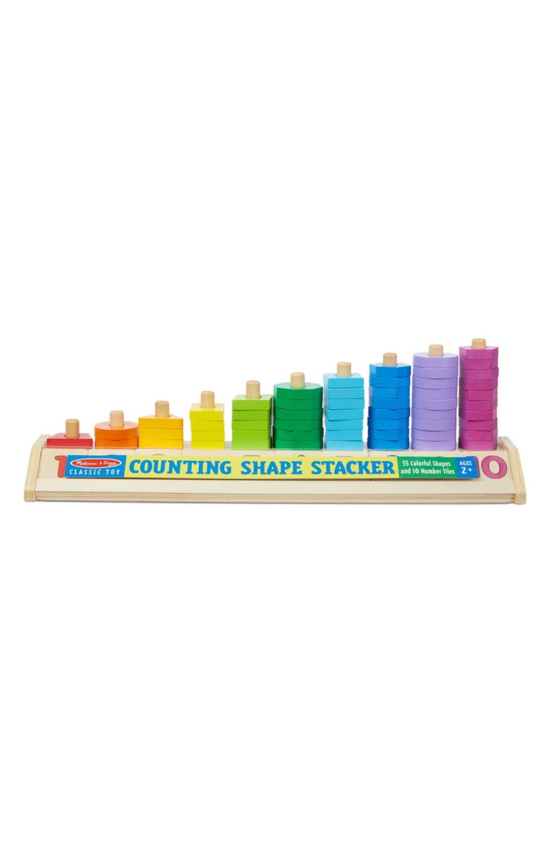 MELISSA & DOUG Counting Shape Stacker, Main, color, 200