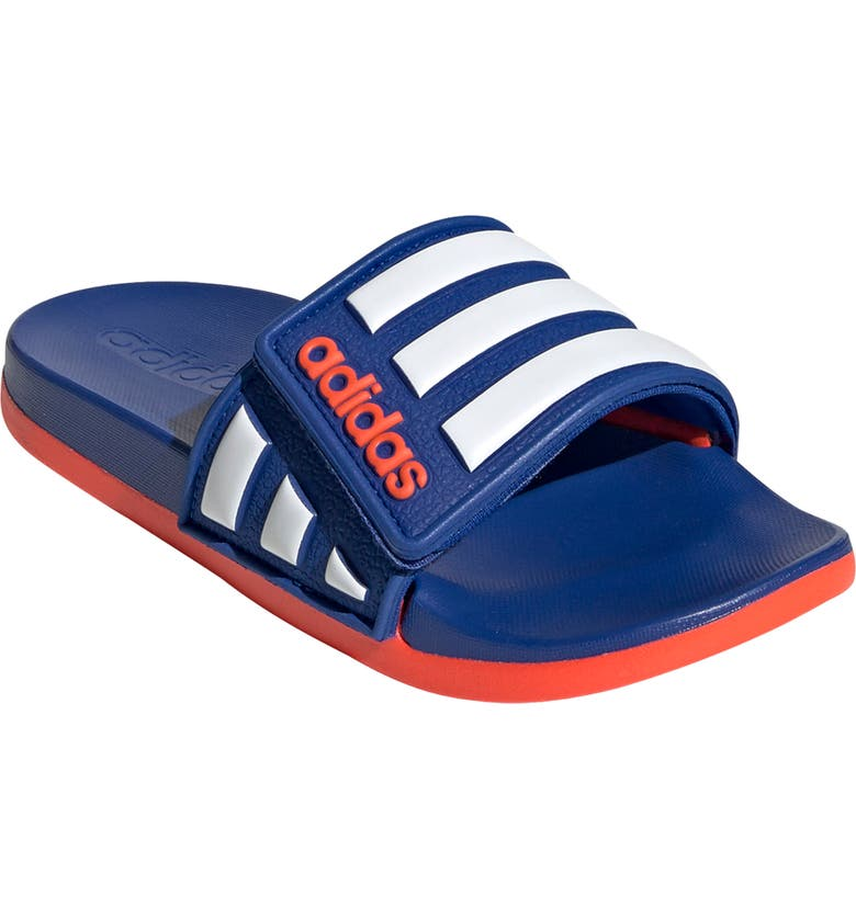 ADIDAS Adilette Comfort Slide Sandal, Main, color, TEAM ROYAL BLUE/ WHITE/ RED