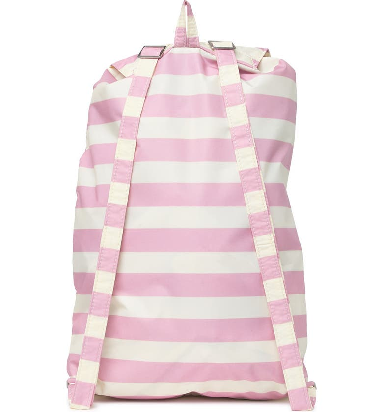 INVICTA BAGS Stripe Minisac Heritage Backpack, Main, color, PINK/BEIGE
