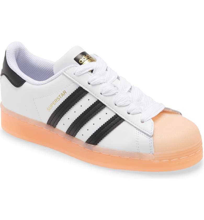 ADIDAS Superstar Sneaker, Main, color, WHITE/ CORE BLACK/ HAZE CORAL