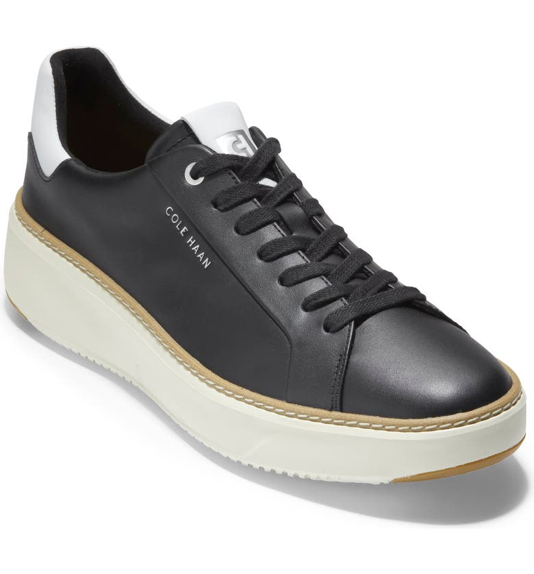 COLE HAAN GrandPro Topspin Sneaker, Main, color, BLACK/OPTIC WHITE/CYBER YELLOW
