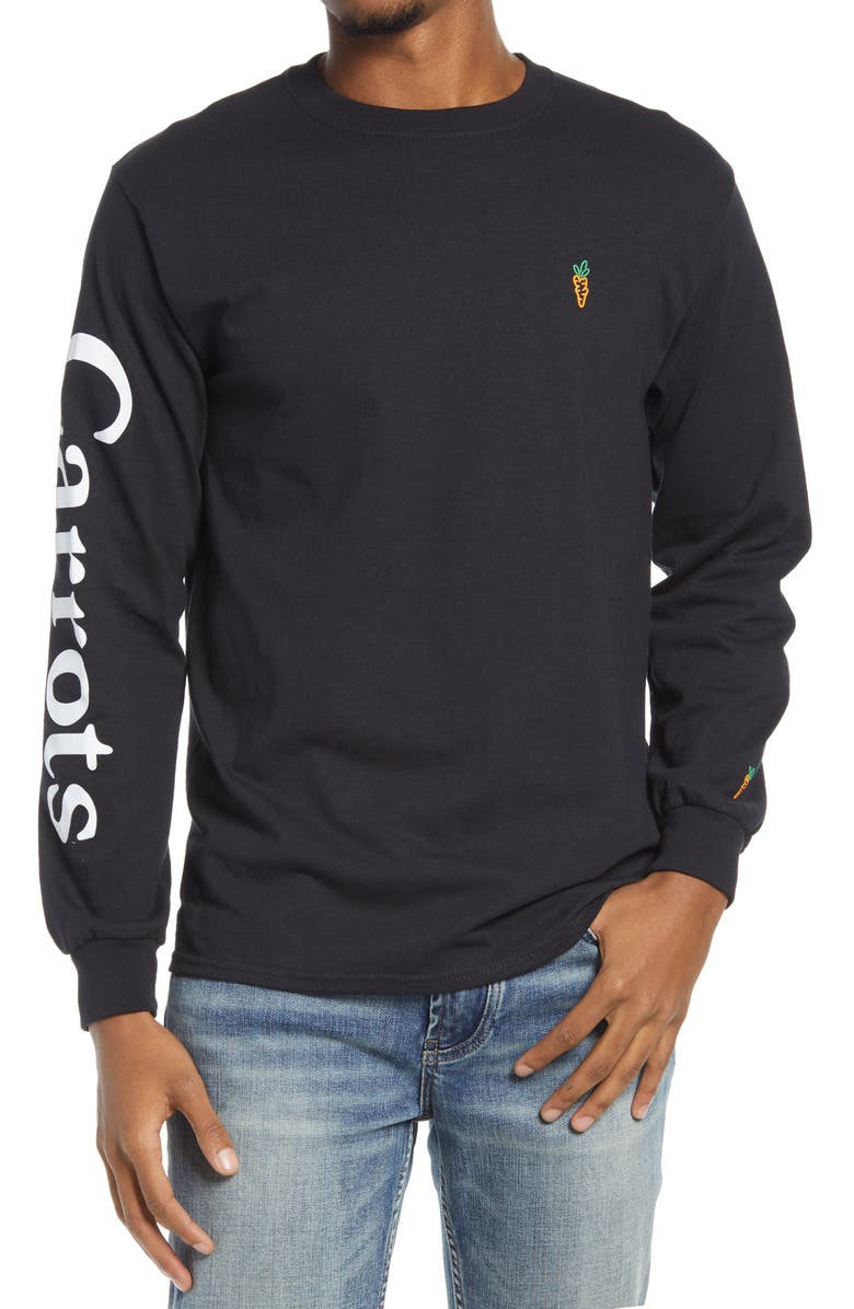 CARROTS BY ANWAR CARROTS Signature Long Sleeve Men's Graphic Tee, Main, color, Black