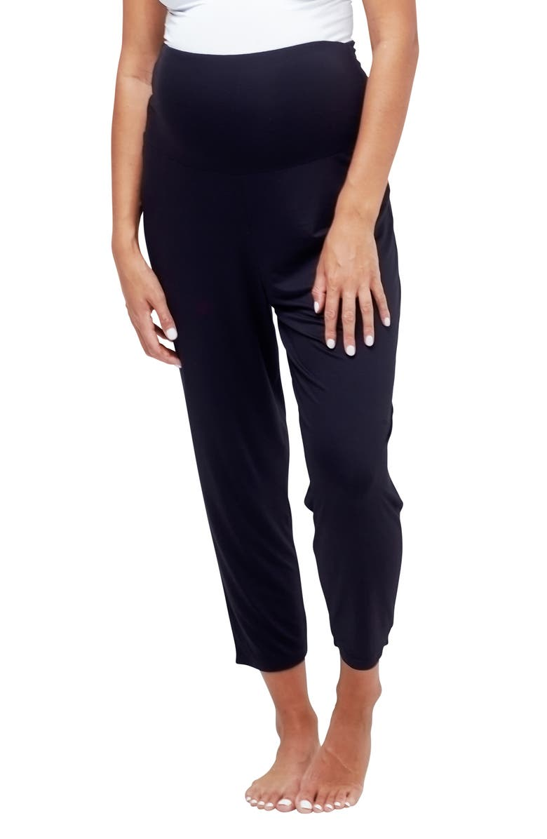 NOM MATERNITY Max Maternity Pajama Pants, Main, color, Black