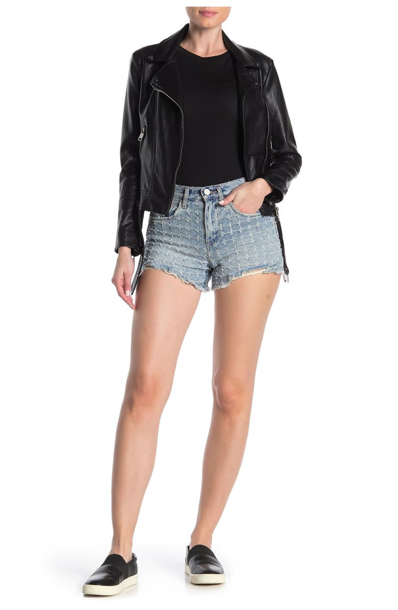 BLANKNYC The Barrow Vintage High-Rise Denim Shorts, Main, color, PUNCH LINE
