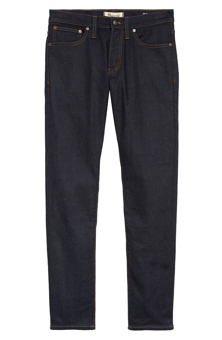 MADEWELL Skinny Authentic Flex Selvedge Jeans, Main, color, 400
