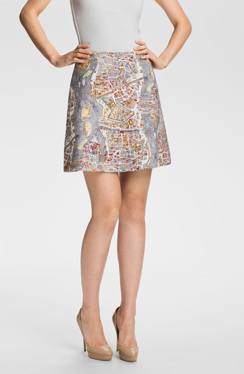 CARVEN Print Skirt, Main, color, 530
