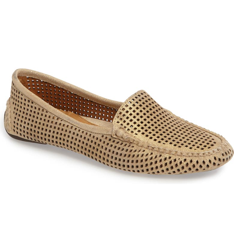 PATRICIA GREEN 'Barrie' Flat, Main, color, GOLD SUEDE