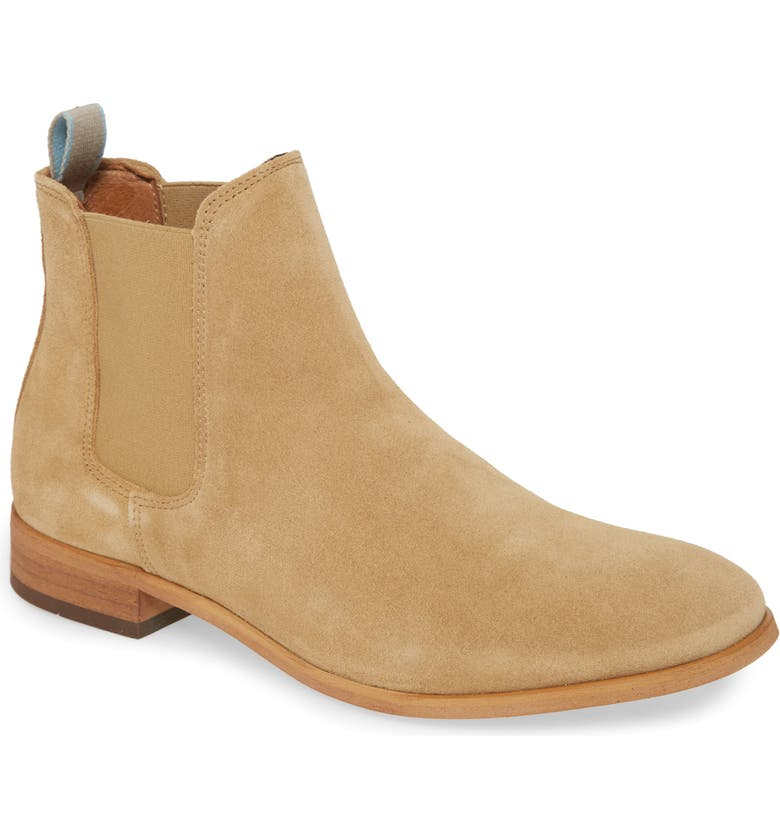 SHOE THE BEAR Dev Chelsea Boot, Main, color, SAND II SUEDE