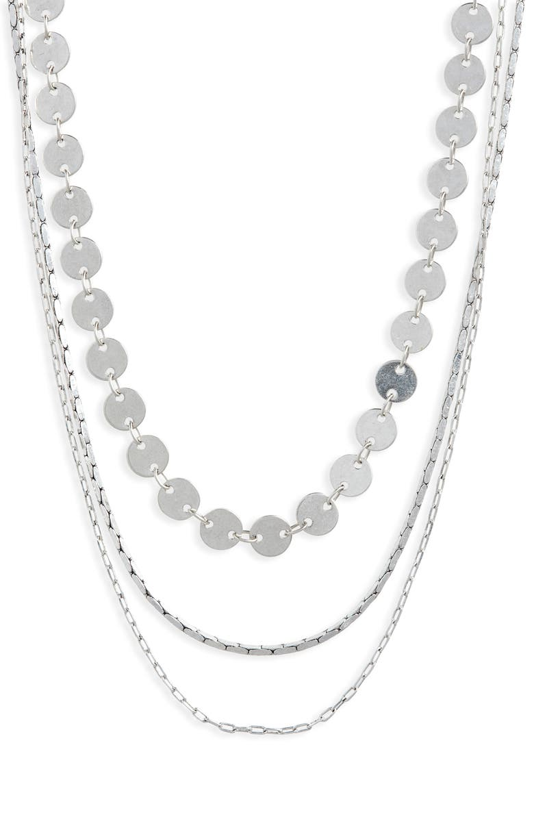 MADEWELL Disc Layered Necklaces, Main, color, 040