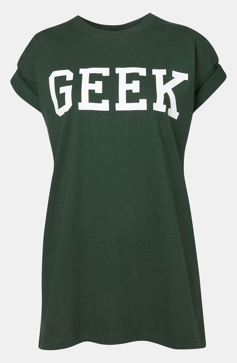 TOPSHOP 'Geek' Graphic Tee, Main, color, 301