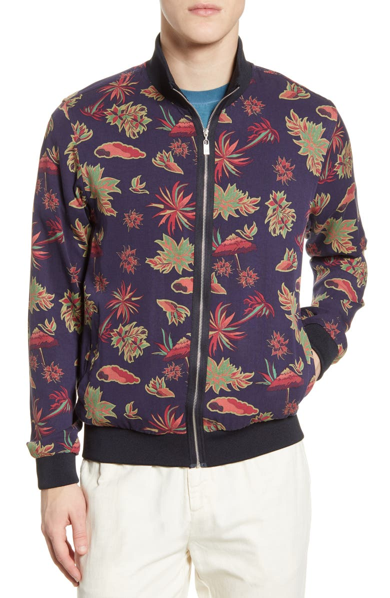 SCOTCH AND SODA Floral Print Bomber Jacket, Main, color, COMBO A