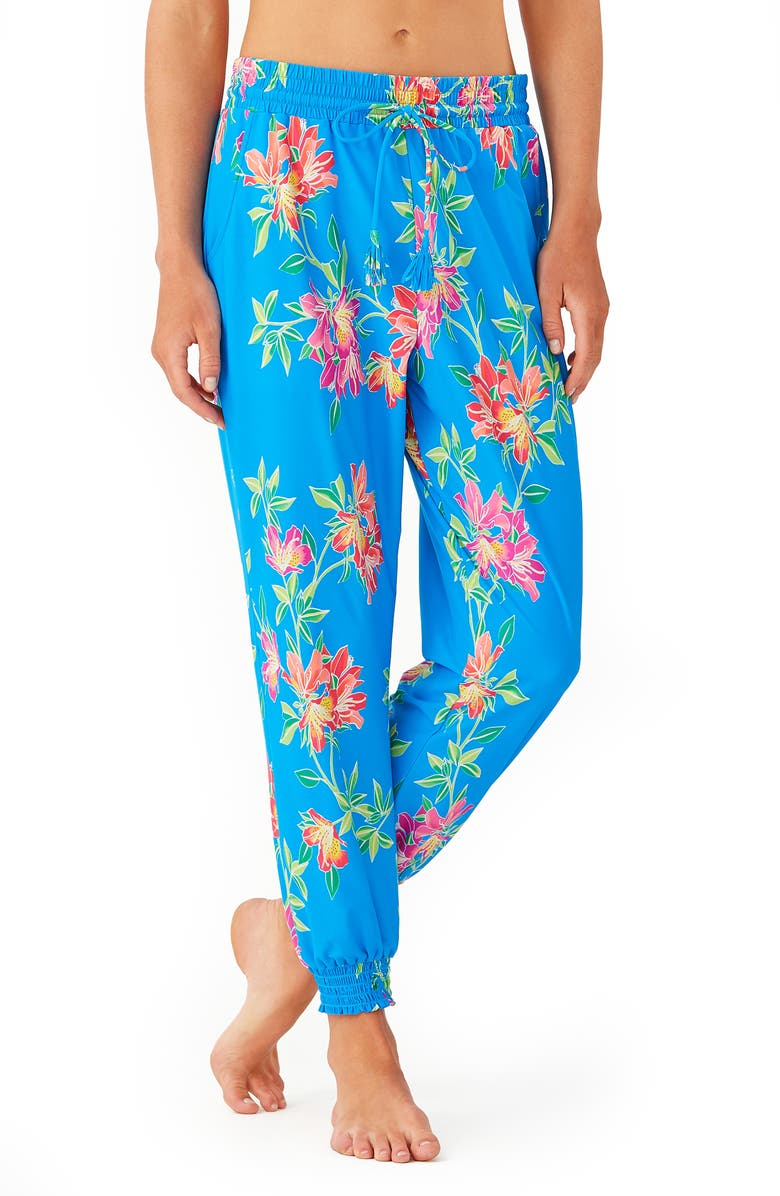 TOMMY BAHAMA Sun Lilies Cover-Up Joggers, Main, color, 400