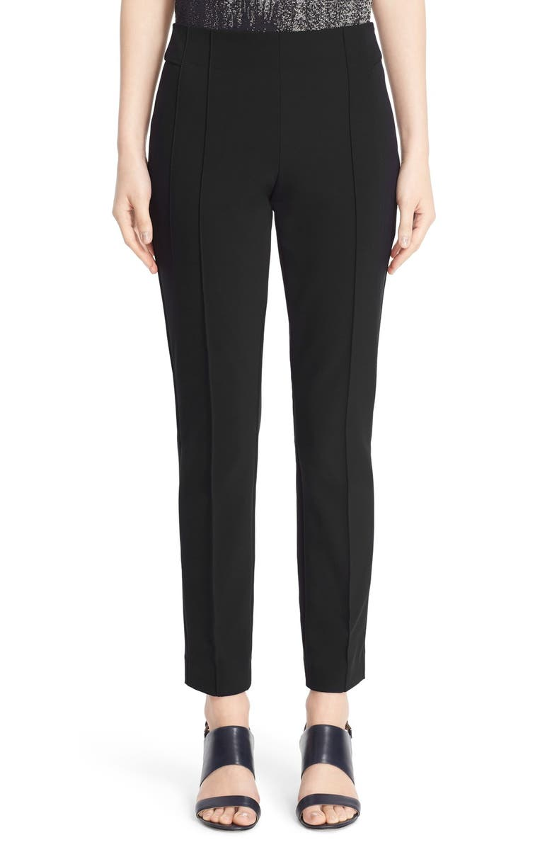LAFAYETTE 148 NEW YORK Gramercy Acclaimed Stretch Pants, Main, color, BLACK