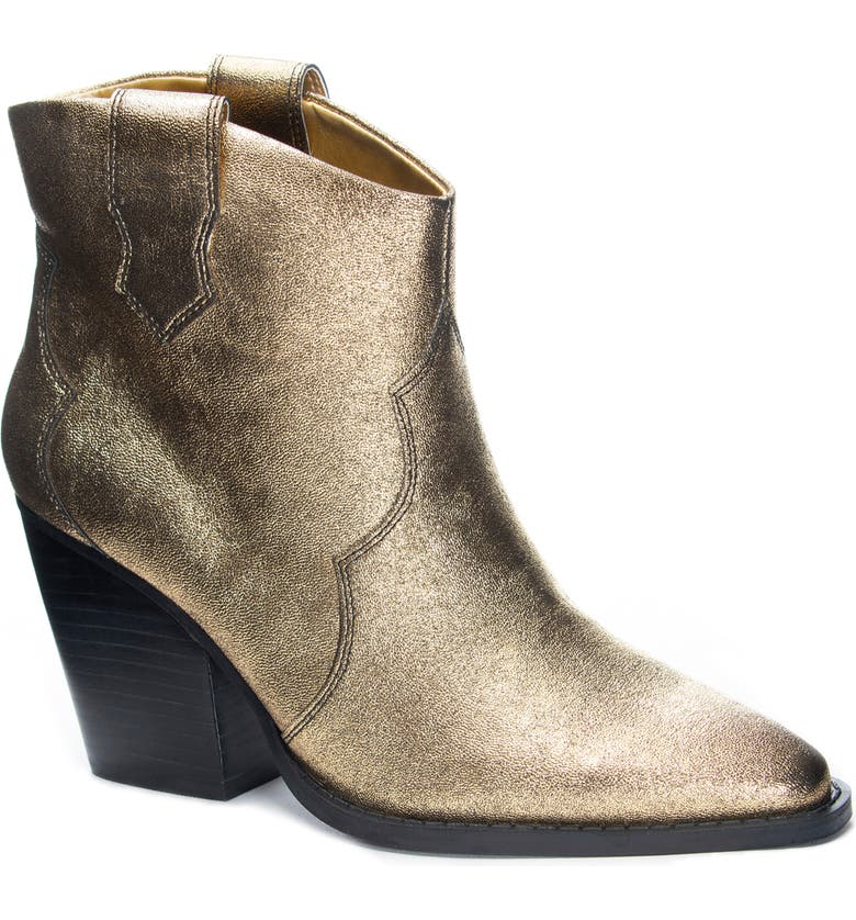 CHINESE LAUNDRY Bonnie Bootie, Main, color, GOLD FAUX LEATHER