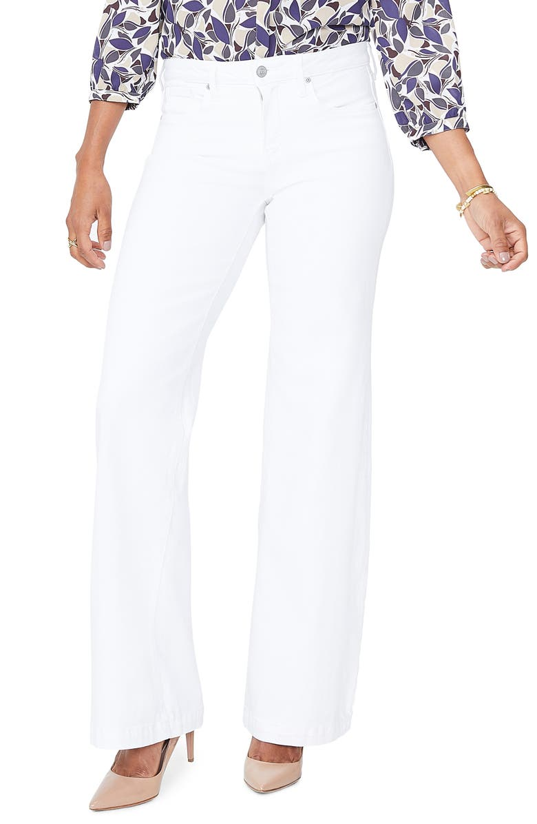 NYDJ Wide Leg Trouser Jeans, Main, color, OPTIC WHITE