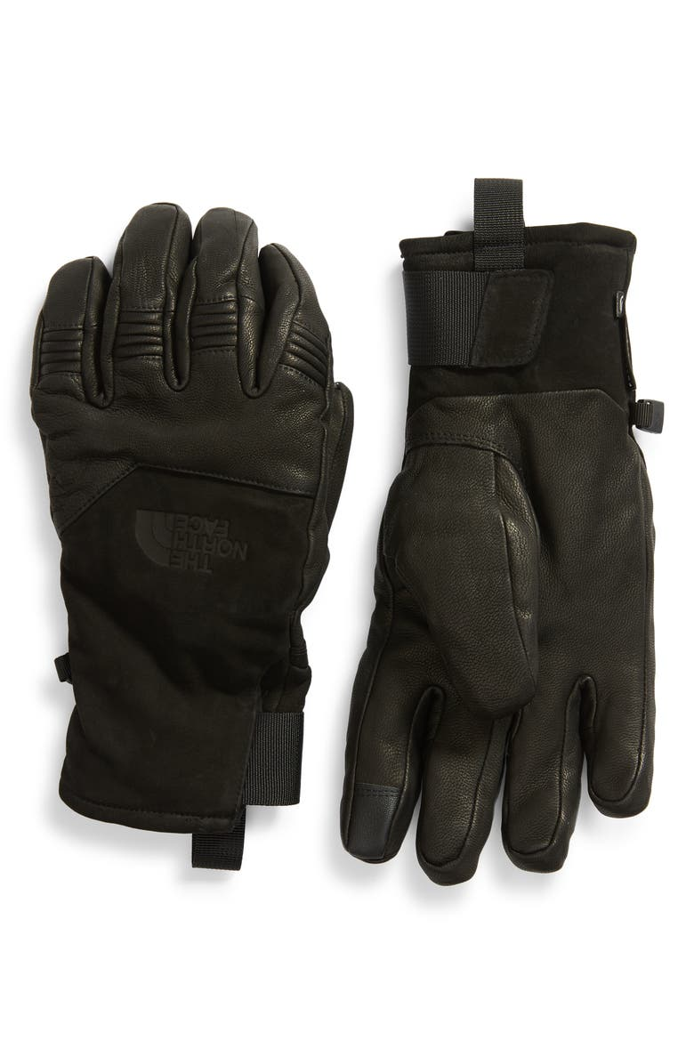 THE NORTH FACE Solo Leather Gloves, Main, color, 001