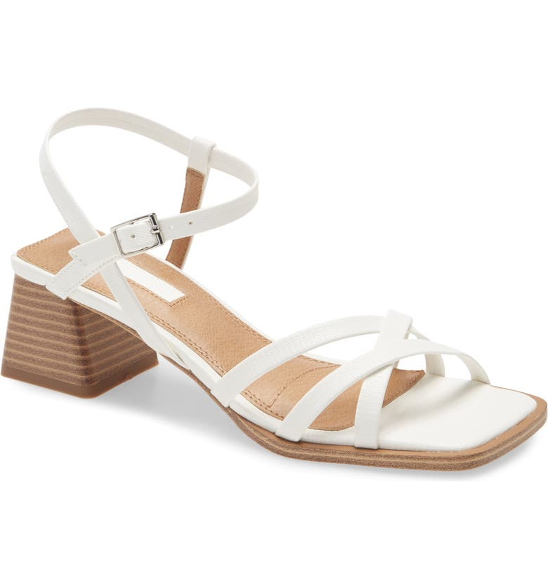 TOPSHOP Divine Strappy Block Heel Sandal, Main, color, WHITE