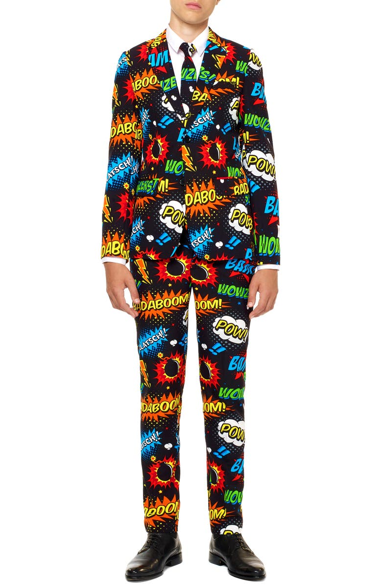 OPPOSUITS Badaboom Two-Piece Suit with Tie, Main, color, 001