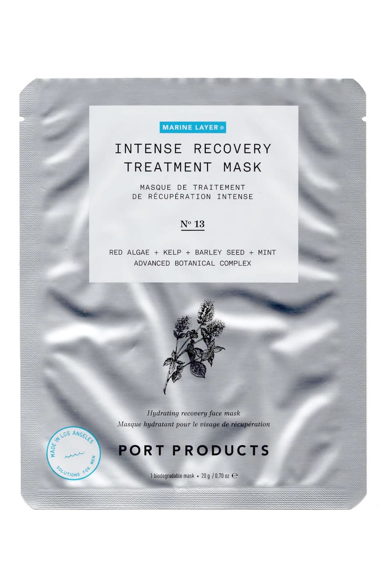 PORT PRODUCTS 4-Pack Marine Layer Intense Recovery Treatment Mask, Main, color, NO COLOR