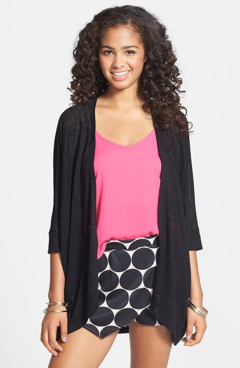 PAINTED THREADS Dolman Sleeve Knit Cardigan, Main, color, 001