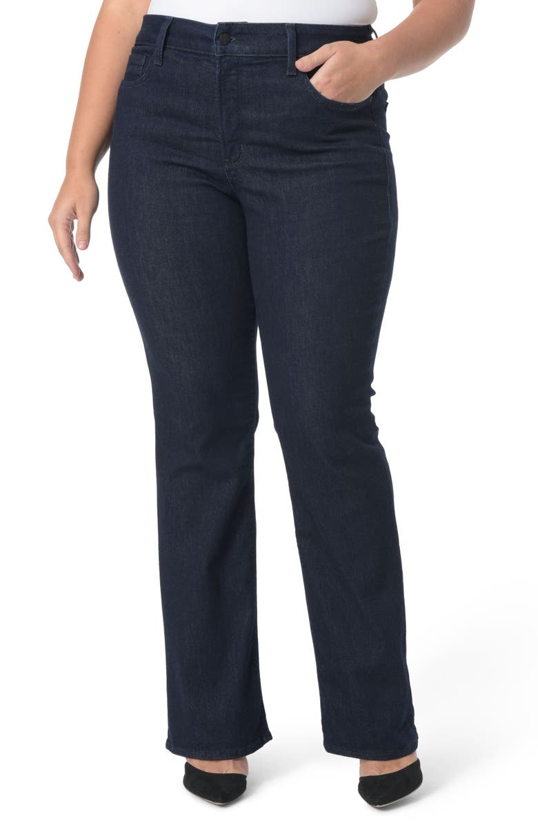 NYDJ Barbara Stretch Bootcut Jeans, Main, color, RINSE TONAL STITCH