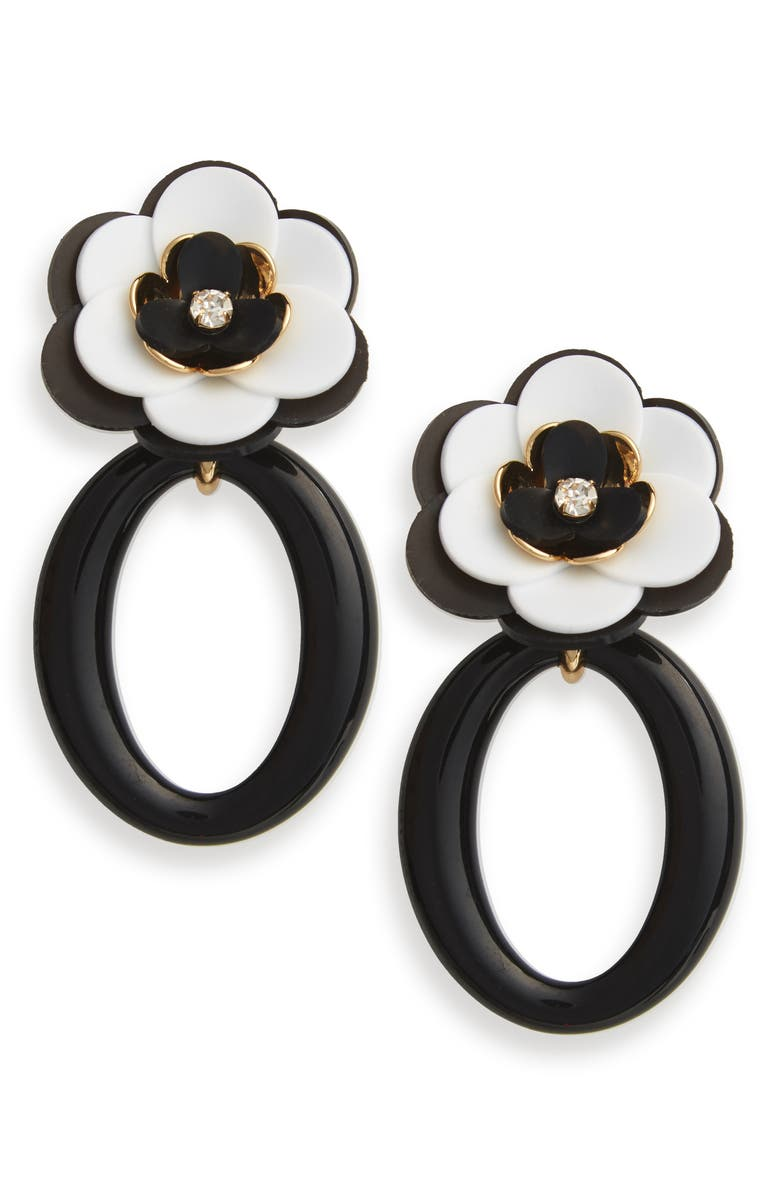 KATE SPADE NEW YORK rosy posies statement drop earrings, Main, color, NEUTRAL MULTI