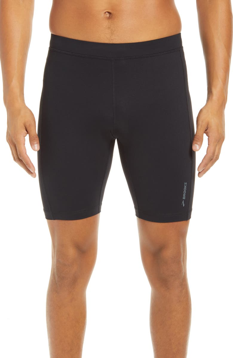 BROOKS Greenlight Short Running Tights, Main, color, BLACK