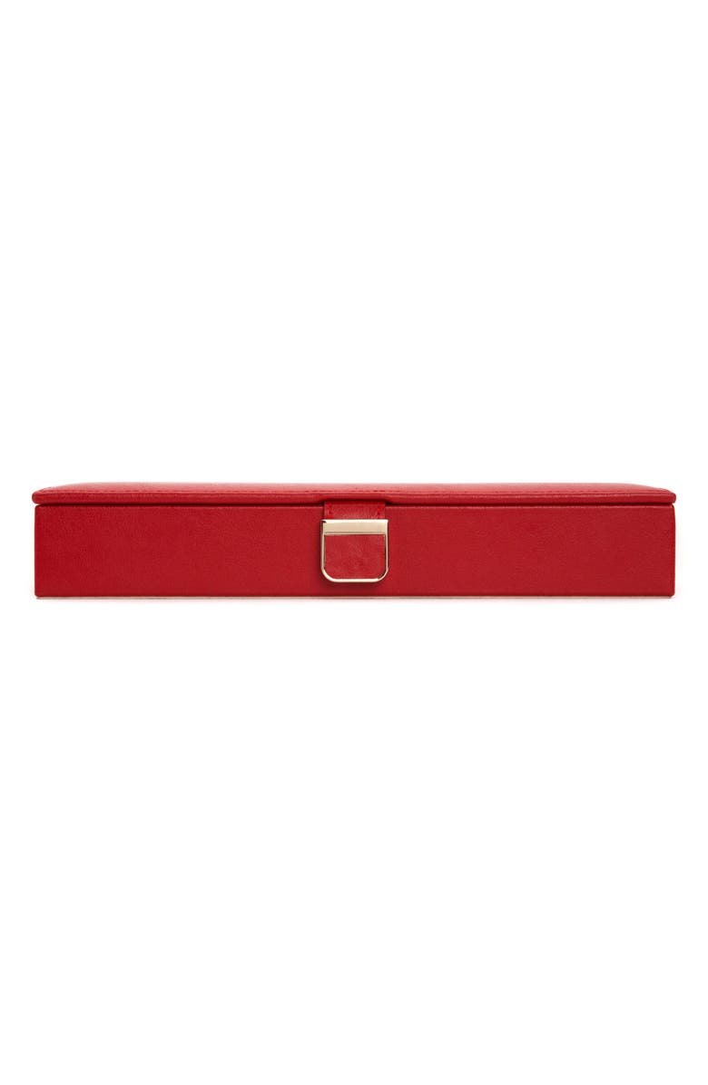 WOLF Palermo Safe Deposit Jewelry Box, Main, color, RED