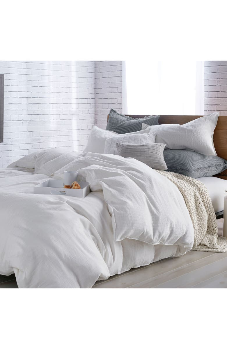 DKNY PURE Comfy White Duvet Cover, Main, color, 100