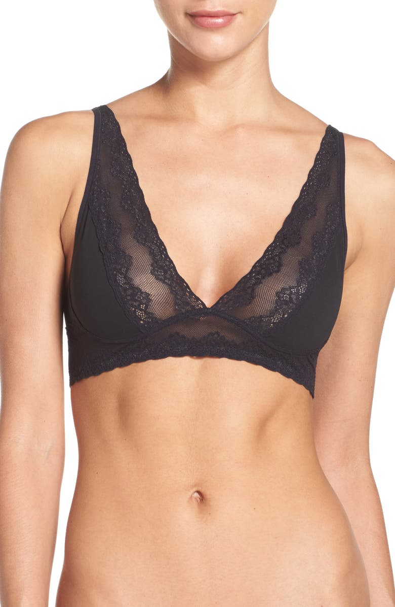 NATORI Bliss Perfection Bralette, Main, color, BLACK