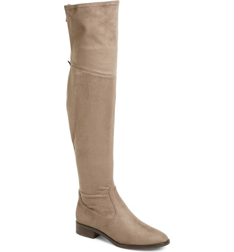 IVANKA TRUMP 'Livi' Faux Suede Over the Knee Boot, Main, color, TAUPE SUEDE