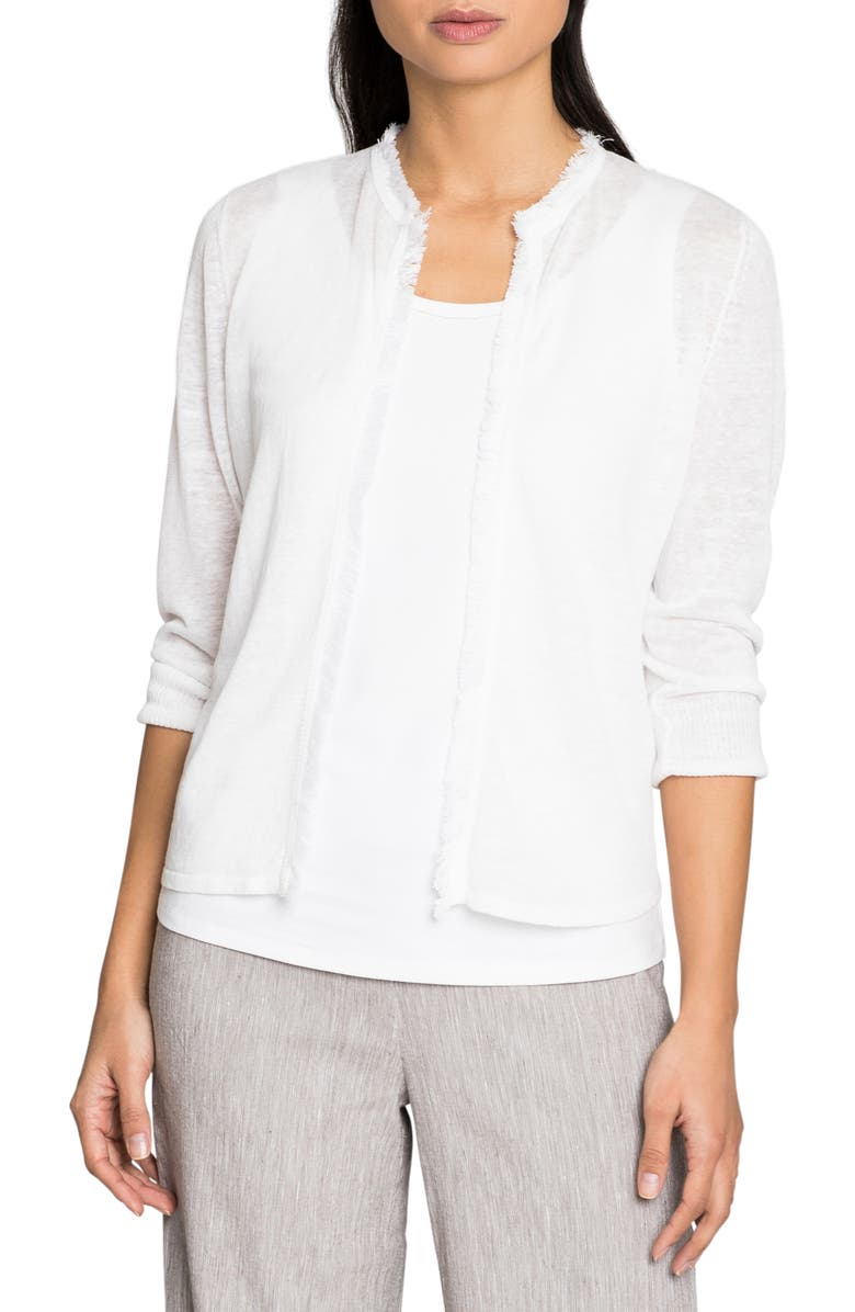 NIC+ZOE New View Cardigan, Main, color, PAPER WHITE