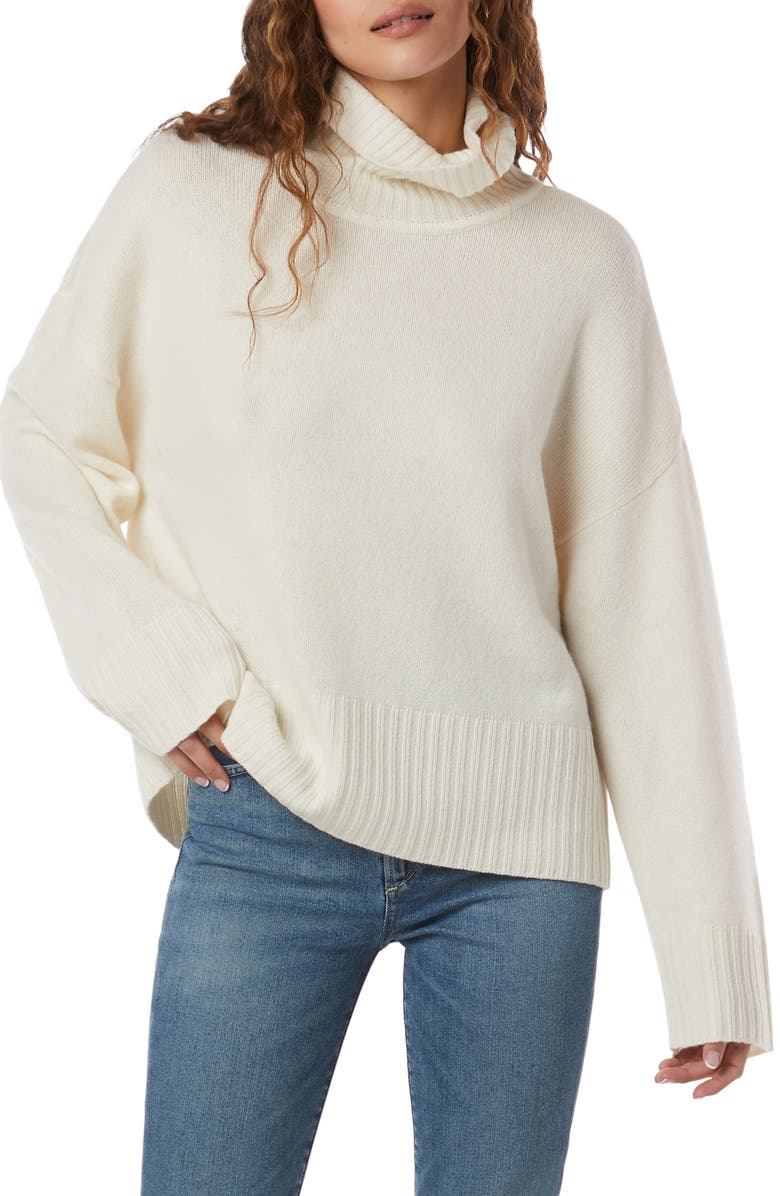 FAVORITE DAUGHTER Cowl Neck Wool & Cashmere Sweater, Main, color, SNOW WHITE