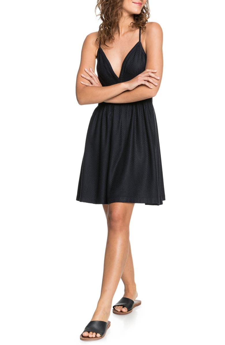 ROXY New Silver Light Dress, Main, color, ANTHRACITE