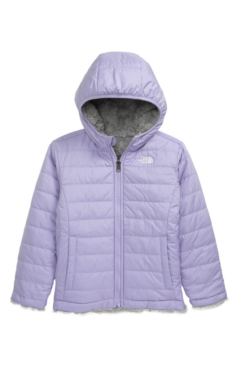 THE NORTH FACE Kids' Mossbud Swirl Reversible Water Repellent Jacket, Main, color, SWEET LAVENDER